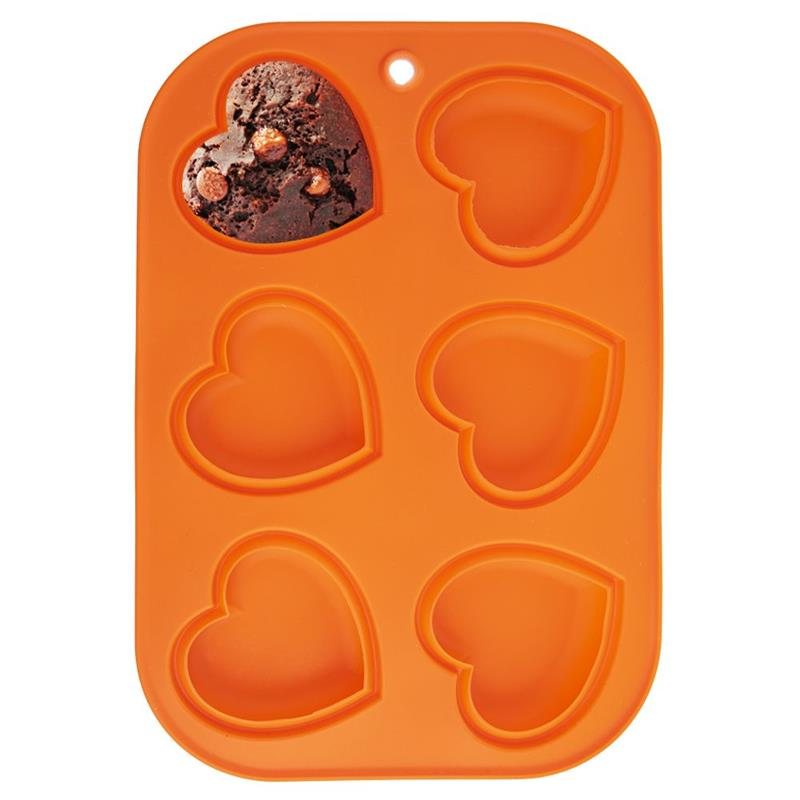 ORION Silicone mold for MUFFINS for muffins HEARTS for baking