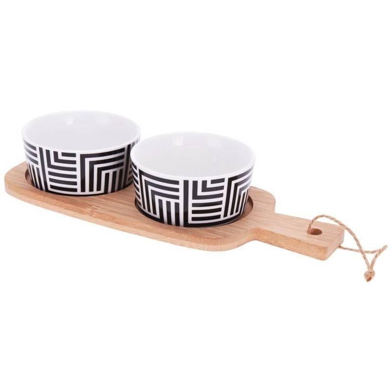 ORION Bowl porcelain ramekin 2 pcs on base tray