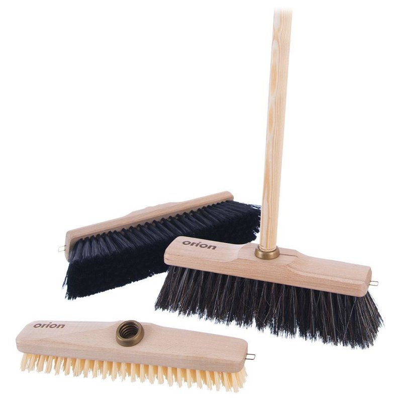 ORION Broom WOODEN BRUSH for broom sweeping universal 27 cm