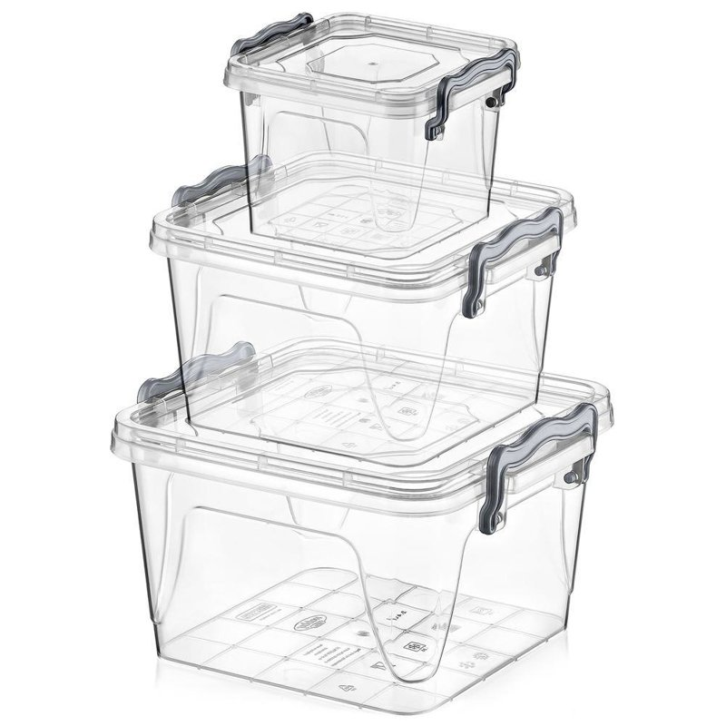 ORION Container for food with lid set of cookwares 3 pieces