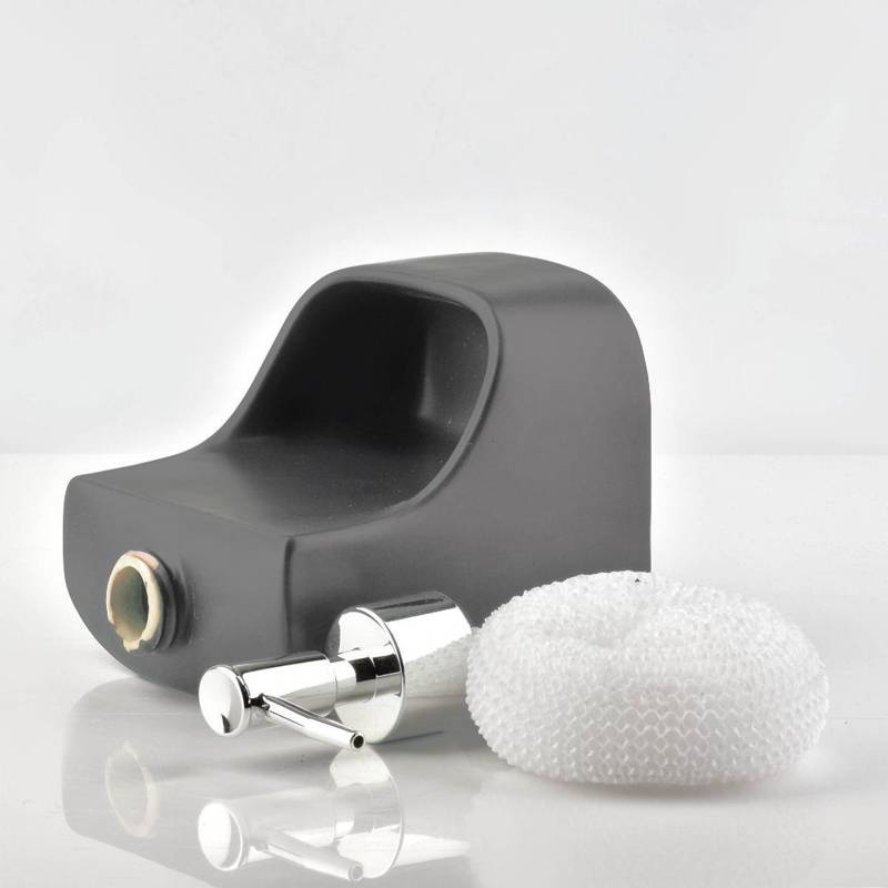 ORION Dispenser for soap gel washing-up liquid grey