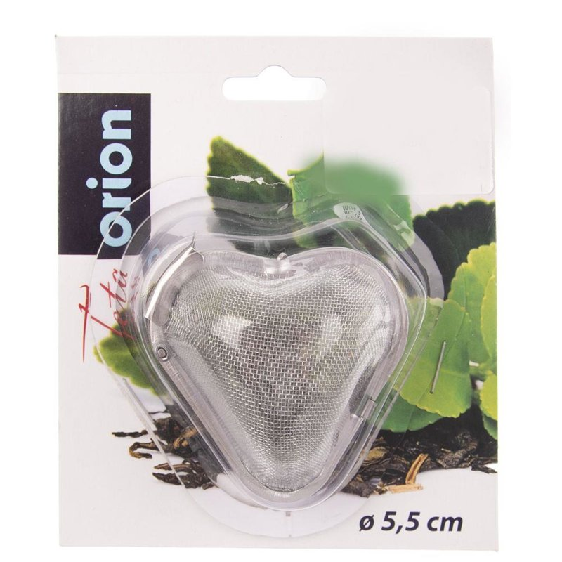 ORION Infuser / sieve for tea, herbs HEART