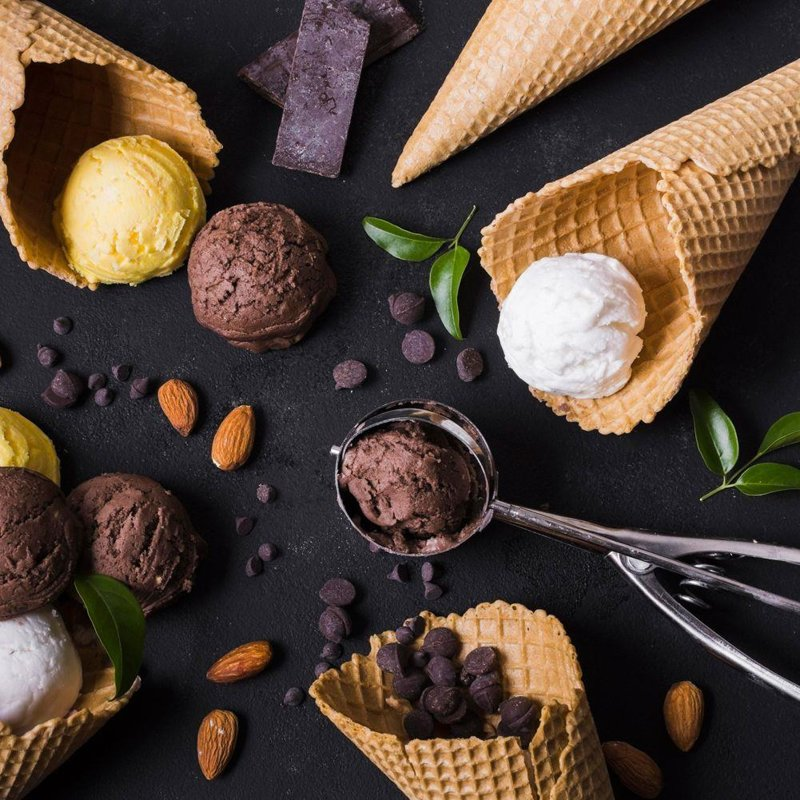 ORION Scoop / spoon for scooping ice cream steel