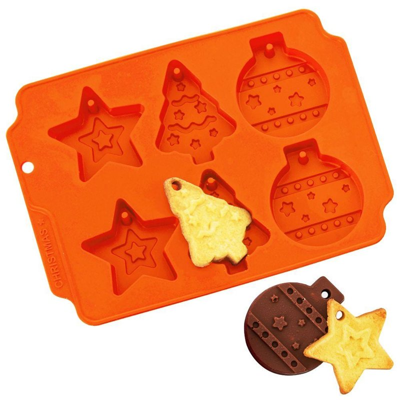 ORION Silicone mold for cookies Christmas ball tree star
