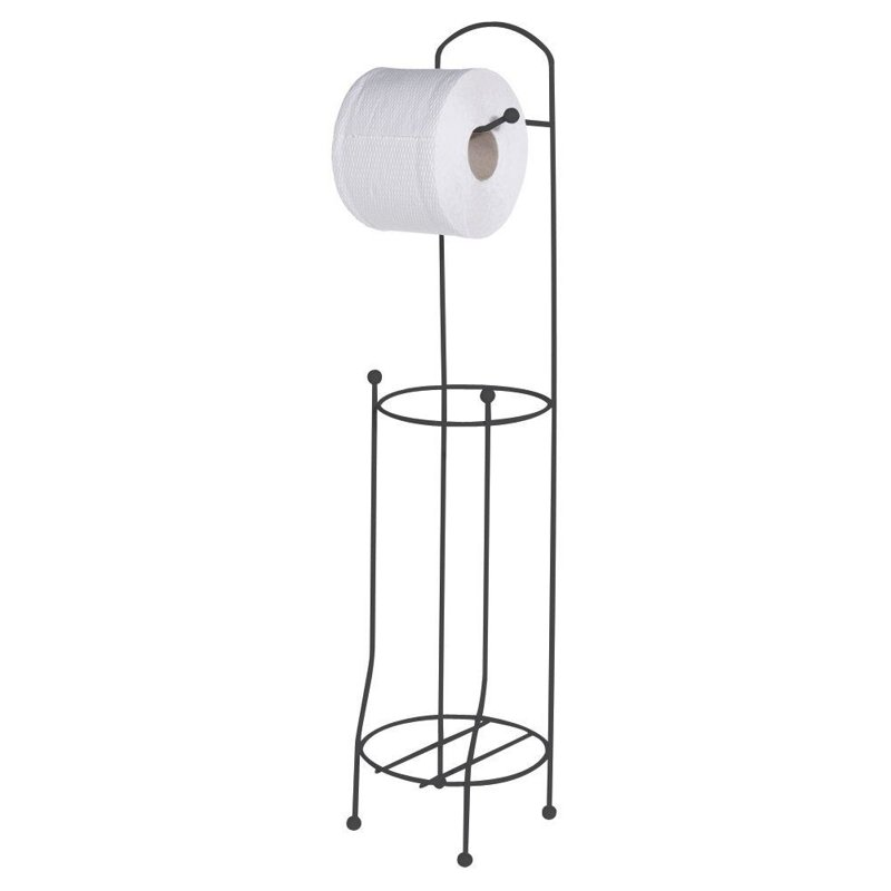 ORION Stand + hanger for toilet PAPER handle metal black