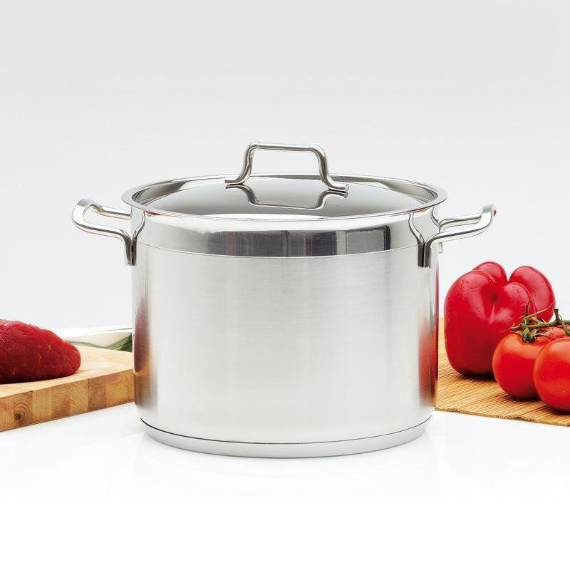 ORION Steel pot with lid 18/10 PREMIUM 1,2L