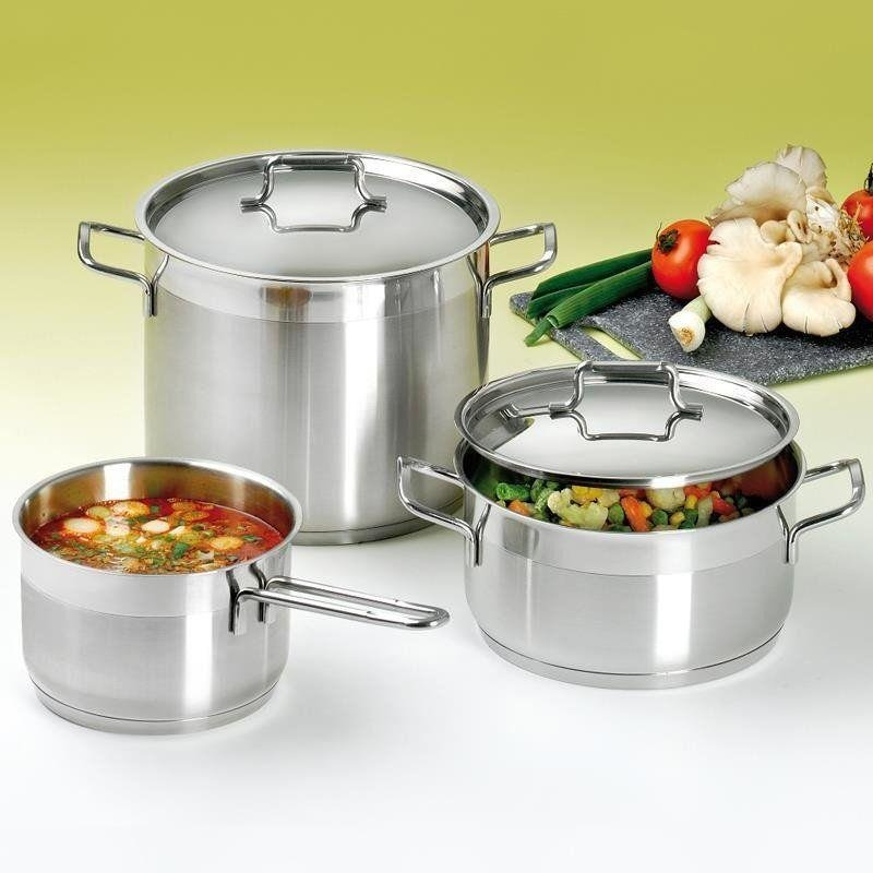 ORION Steel pot with lid 18/10 PREMIUM 2,3L