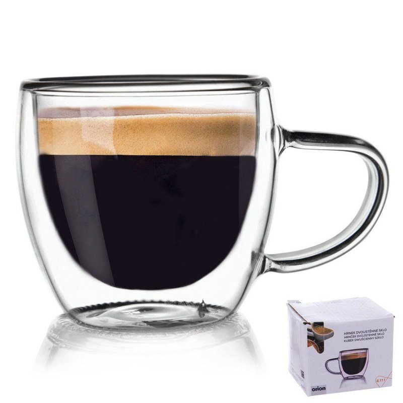 ORION Thermal glass with double wall for COFFEE  0,1L