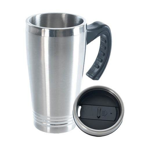ORION Thermal mug with a handle steel 0,45L
