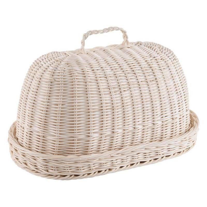 ORION Wicker bread bin RATTAN OVAL fabric for bread