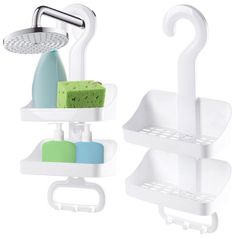 Duschablage HÄNGEREGAL für Badezimmer WEISS mit Haken zum ...