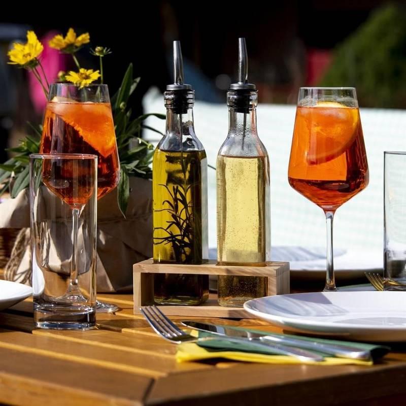 Essig und Öl Spender Set Flasche 2 Stück Set Ölflasche und Halterung
