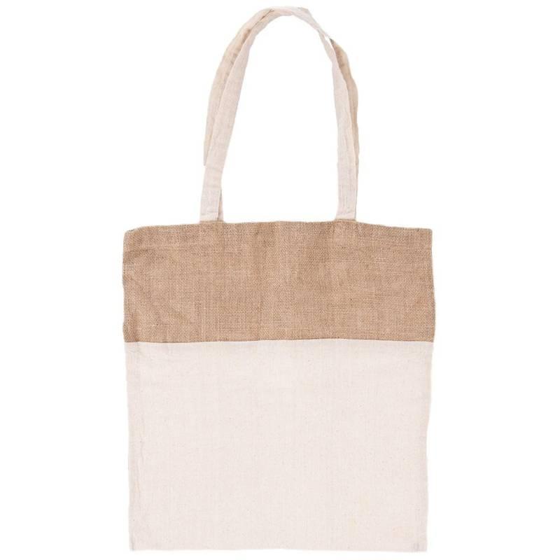 ORION Einkaufstasche Einkaufsbeutel aus Baumwolle Jute Jutebeutel NATURAL 40x40 cm