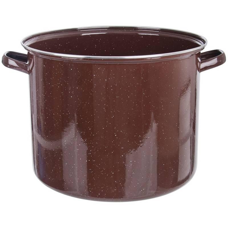 ORION Emaille-Topf / emaillierter Kochtopf für Gastronomielokale groß 40 cm 39l