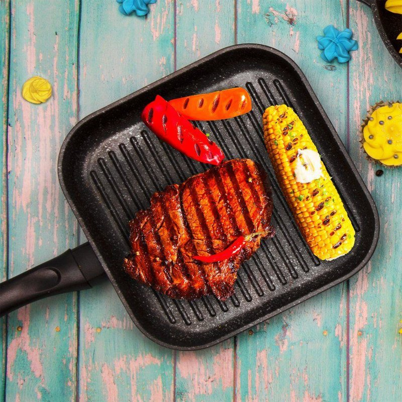 ORION Grillpfanne 26x26 cm mit Granitbeschichtung GRANDE