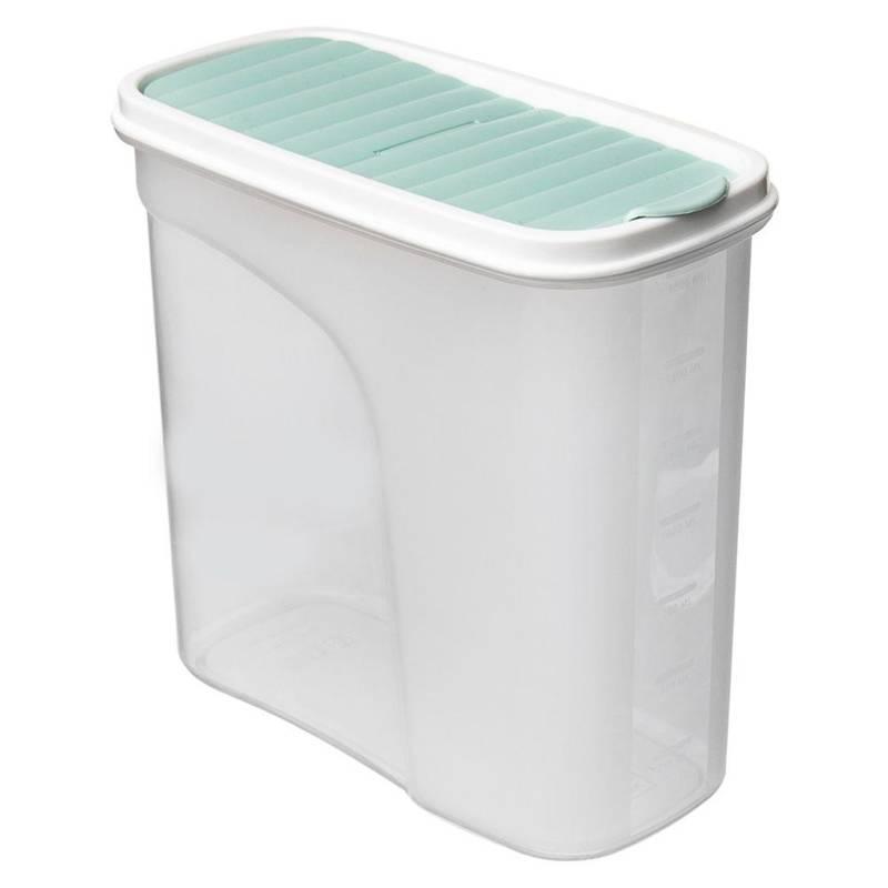 ORION Küchenbehälter Vorratsdose Aufbewahrungsbehälter für Frühstücksflocken Grütze Mehl Nudeln Zucker lose Produkte mit Dosierspender Maßeinteilung 1,8l