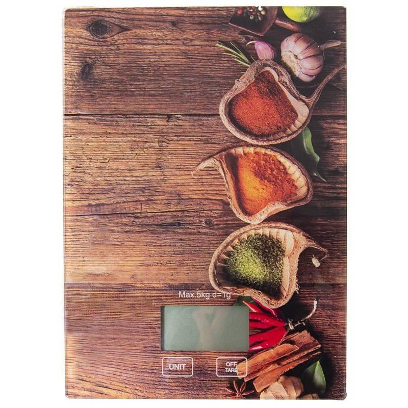ORION Küchenwaage elektronische Waage mit LCD-Anzeige flach aus Glas 5kg