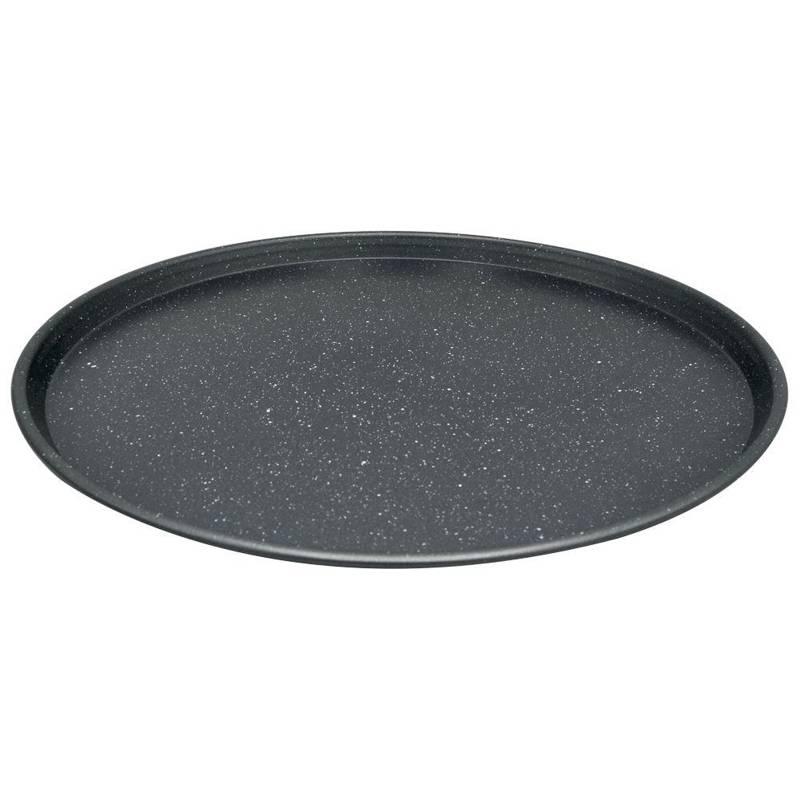 ORION Pizzablech Pizzaform GRANIT fürs Pizzabacken XL groß 35,5 cm