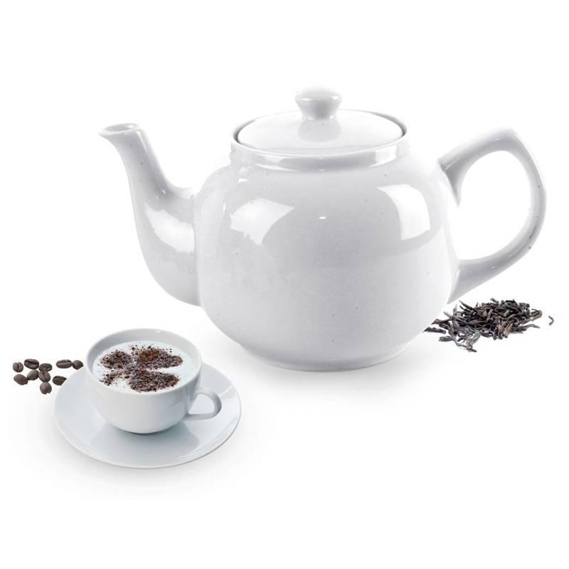 ORION Porzellankanne / Kaffeekanne / Teekanne mit Henkel 1,7l
