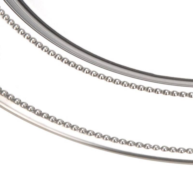 ORION Servierplatte Serviertablett SERVIERTELLER aus Stahl elegant 39 cm