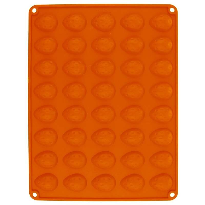 ORION Silikonbackform / Backform NÜSSE für Kekse Pralinen 40 Stück