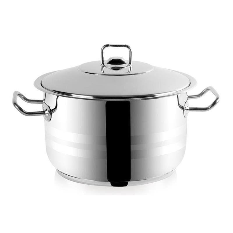ORION Stahltopf / Kochtopf für Gastronomielokale mit Deckel GASTRO 13,7l