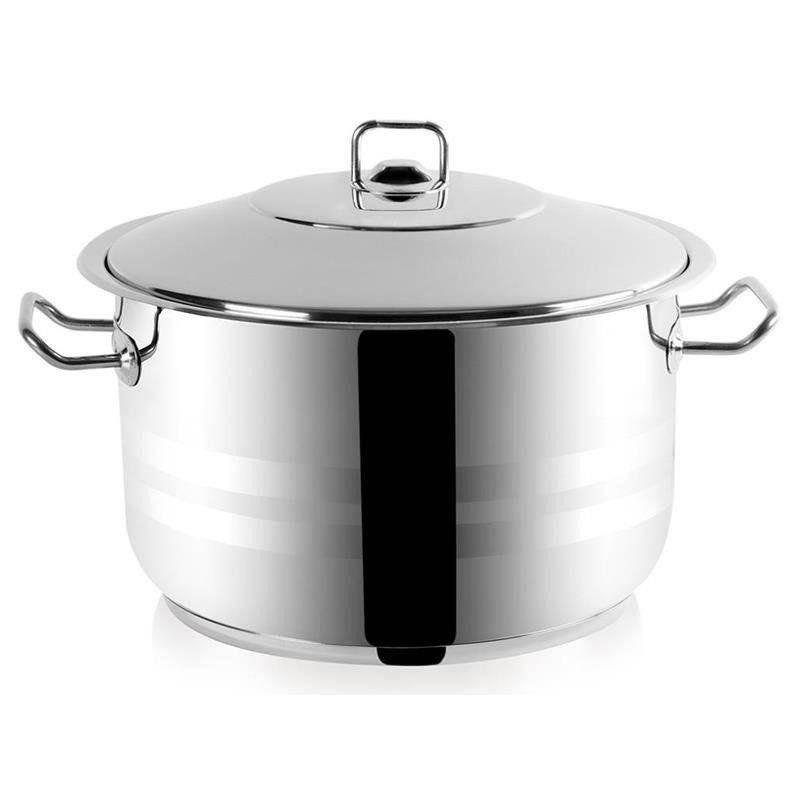 ORION Stahltopf / Kochtopf für Gastronomielokale mit Deckel GASTRO 26l