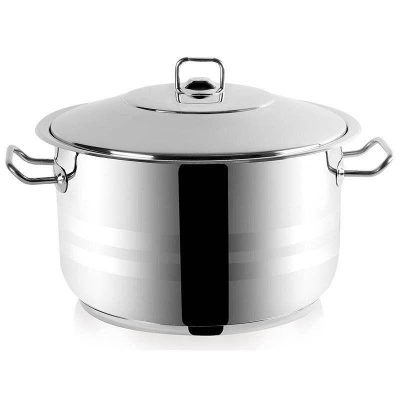 ORION Stahltopf / Kochtopf für Gastronomielokale mit Deckel GASTRO 30,5l