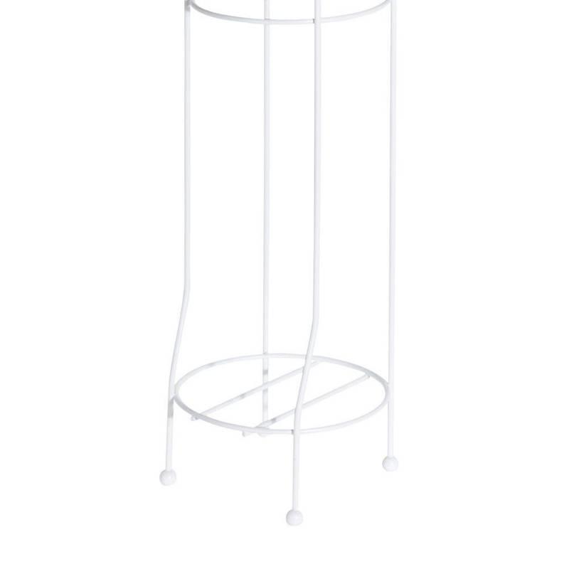 ORION Ständer + Toilettenpapierhalter / Toilettenpapierständer aus Metall weiß