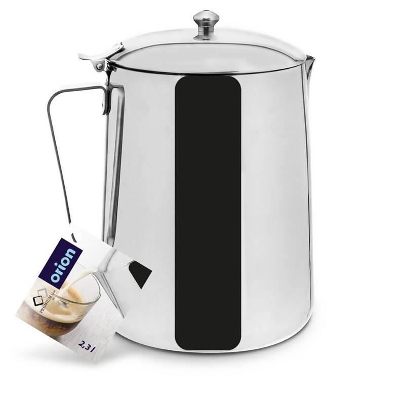 ORION Teekanne Kaffeekanne aus Stahl mit Deckel 2,3l