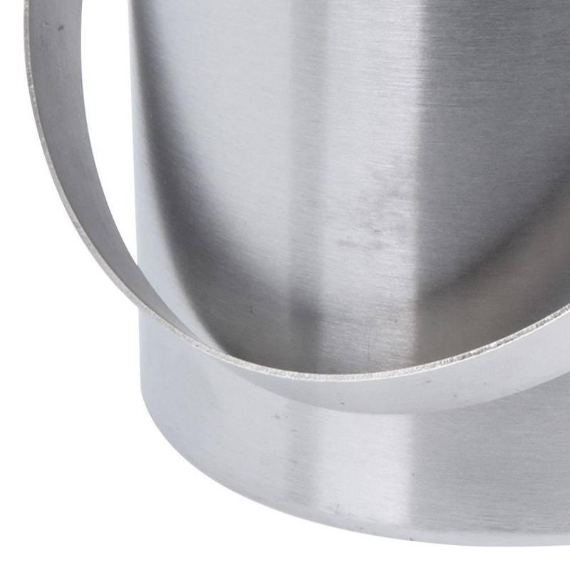 ORION Thermobehälter EISEIMER aus Stahl Eiskübel Eiswürfelbehälter mit Deckel