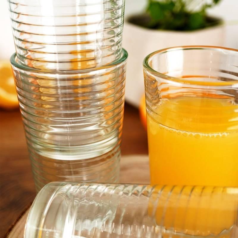 ORION Trinkgläser Saftgläser Limonadengläser Cocktailgläser Kaffeegläser 220 ml 6 Stück