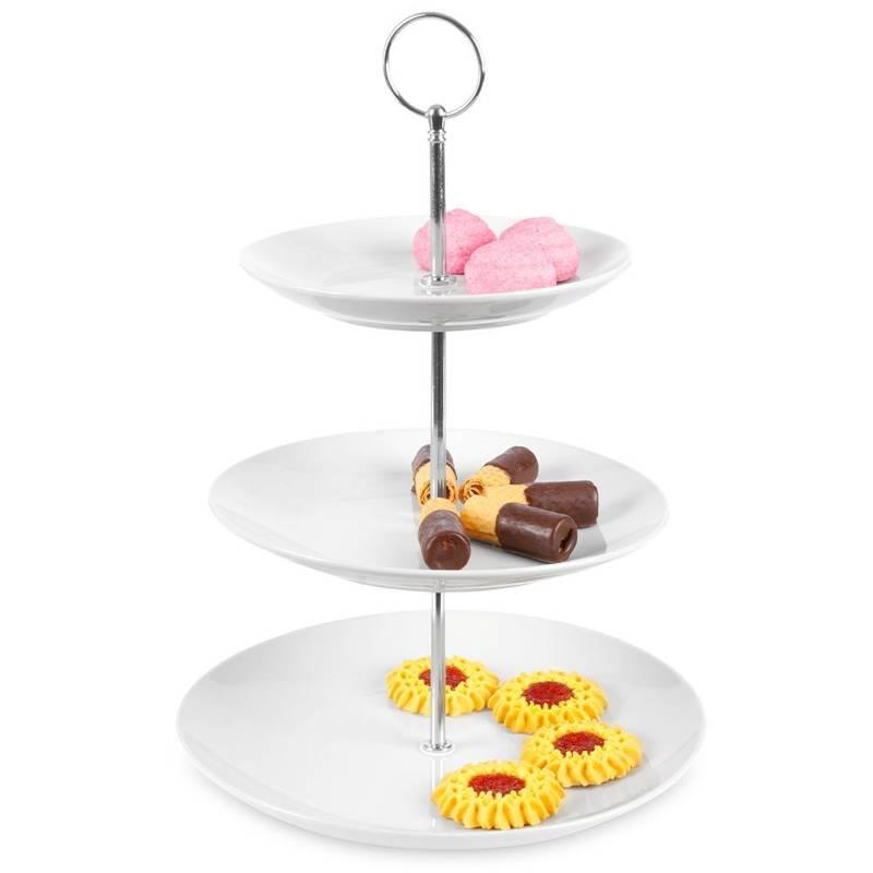 Porzellanetagere Etagere für Kuchen Kekse 3-stöckig