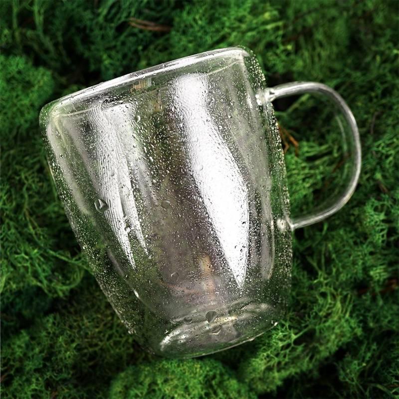 4x szklanka termiczna z podwójną ścianką do kawy, 300 ml