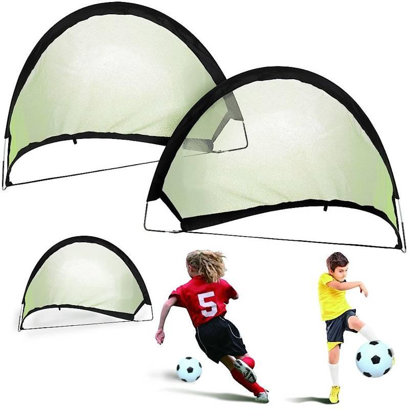 Bramka do piłki nożnej, składana, rozkładana, pop-up, 80x60x60 cm, zestaw, komplet, bramek, 2 sztuki