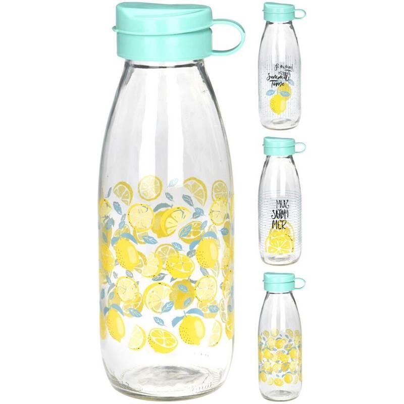 Butelka szklana, bidon na wodę, sok, lemoniadę, smoothie, koktajl, 0,5 l