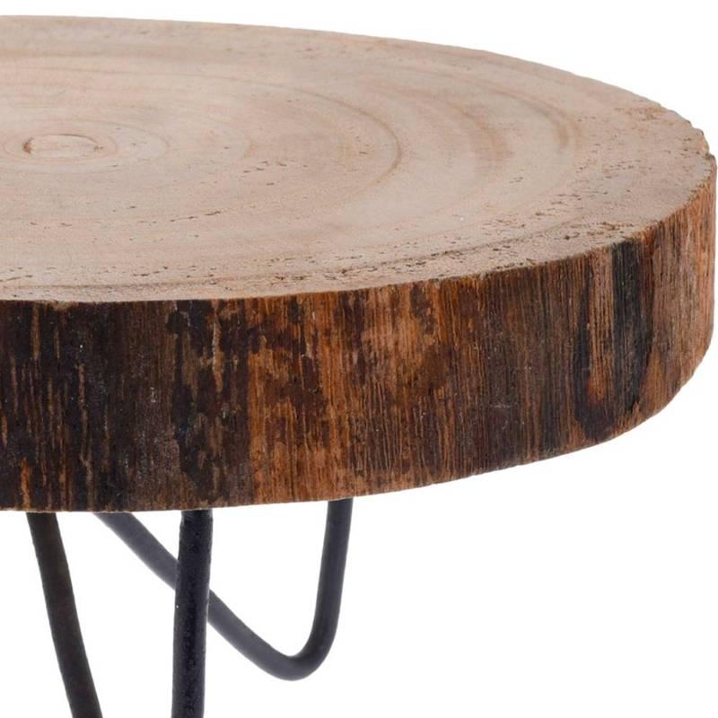 Deska drewniana do serwowania na nóżkach, do podawania dań, przekąsek, przystawek, taca, plaster drewna 40 cm