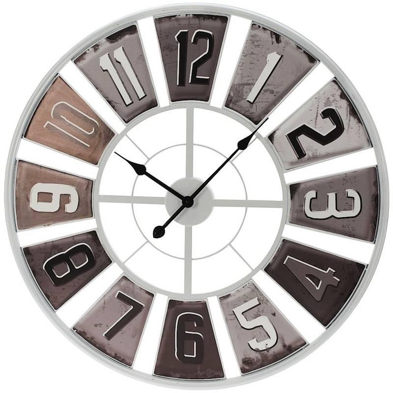 Duży, zegar metalowy, ścienny, industrialny, retro, loft, 80 cm