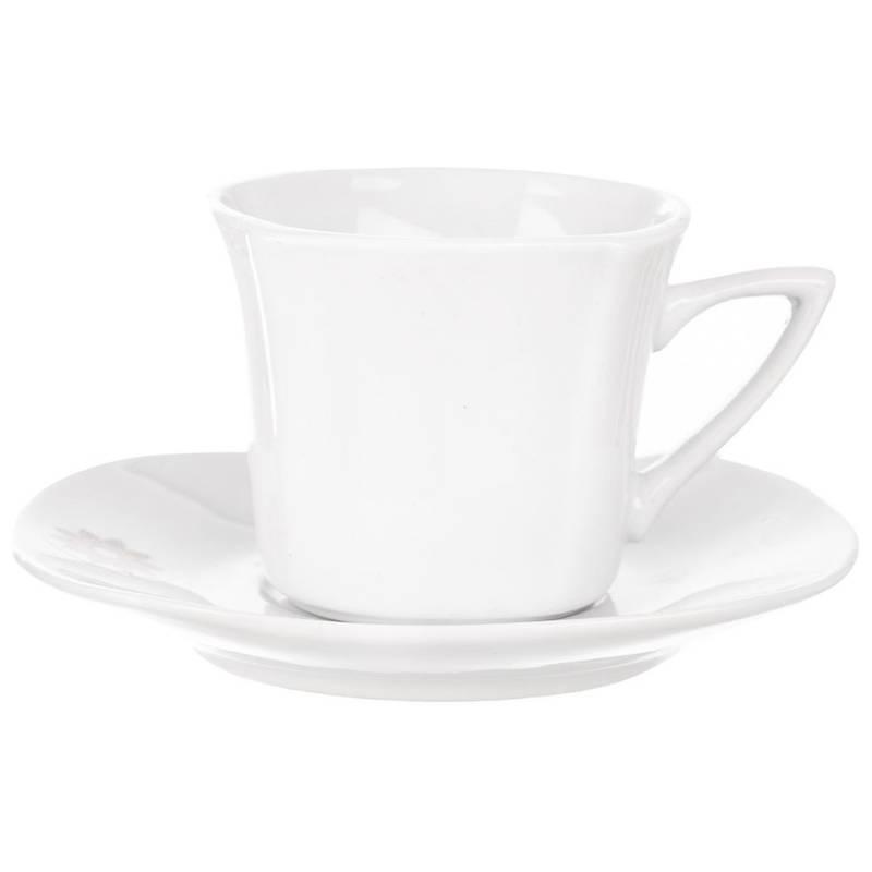 Filiżanka porcelanowa BIAŁA + podstawka spodek 100 ml