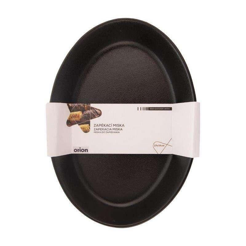 Forma brytfanna porcelanowa czarna do zapiekania żaroodporna 27x19 cm półmisek talerz