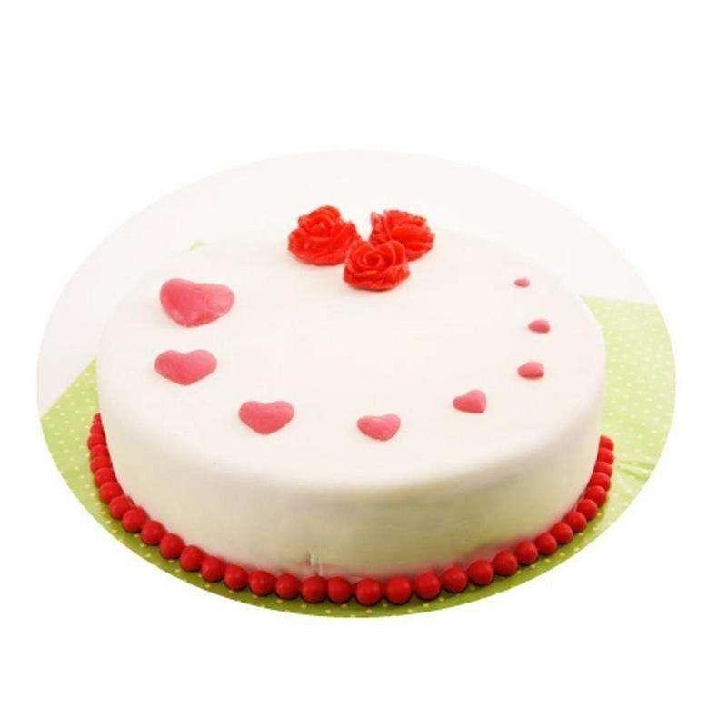 Forma silikonowa do masy cukrowej tortu SERCE