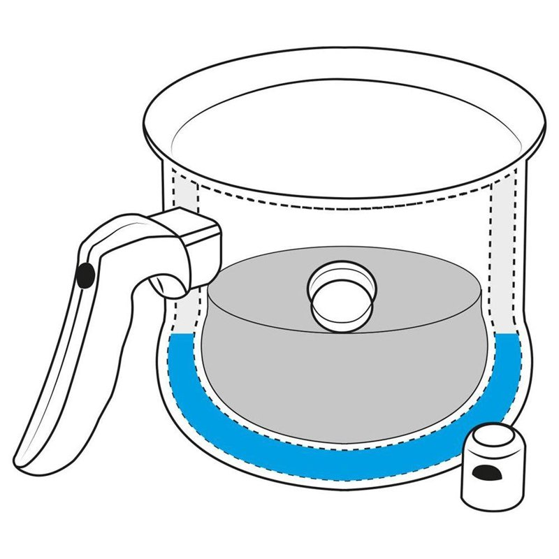 Garnek do gotowania mleka na mleko 2,5L stalowy