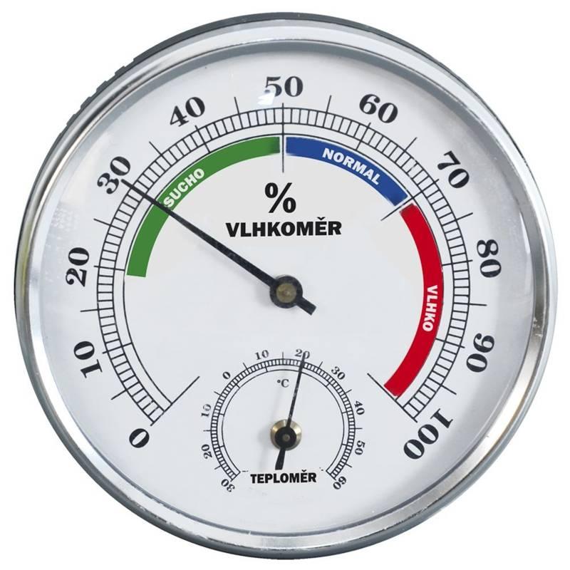 Higrometr + termometr wewnętrzny / zewnętrzny
