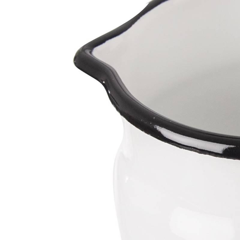 Kubek garnek emaliowany retro 10 cm 0,8L