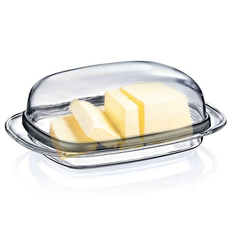 Maselnica MASELNICZKA przezroczysta pojemnik na masło z pokrywką