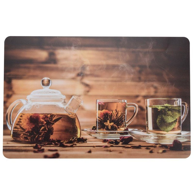 Mata kuchenna na stół PODKŁADKA pod talerz sztućce HERBATA