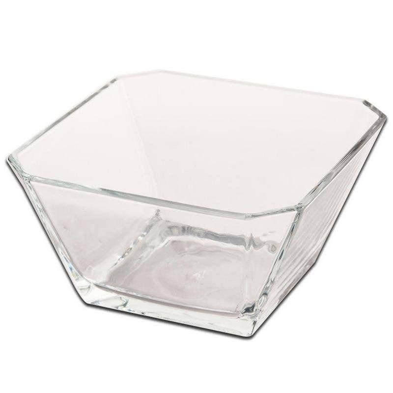 Miska do sałatek szklana kwadratowa 19x19 cm