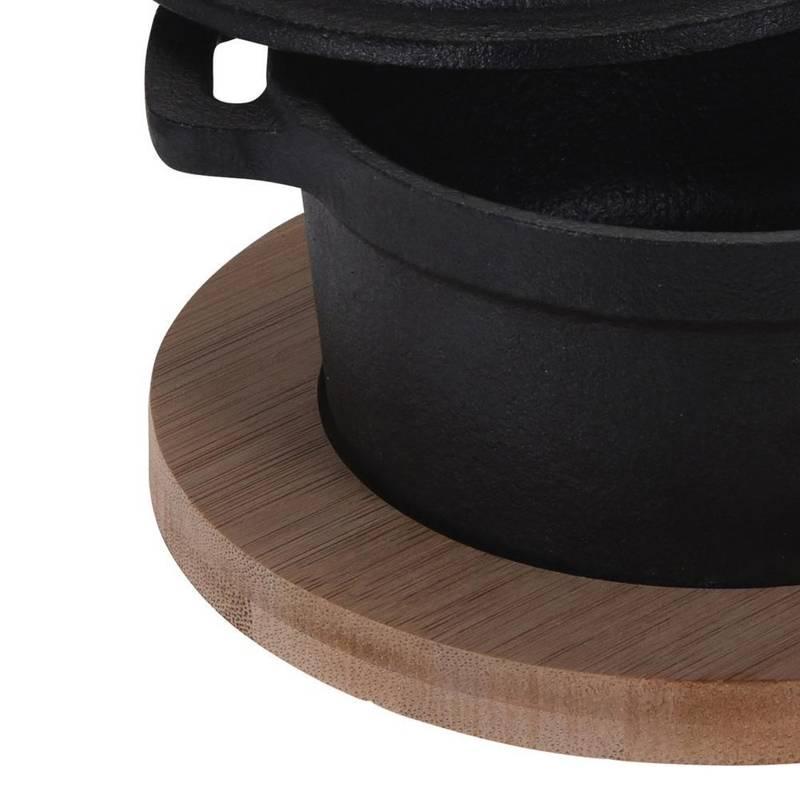 Naczynie żeliwne do serwowania na desce taca