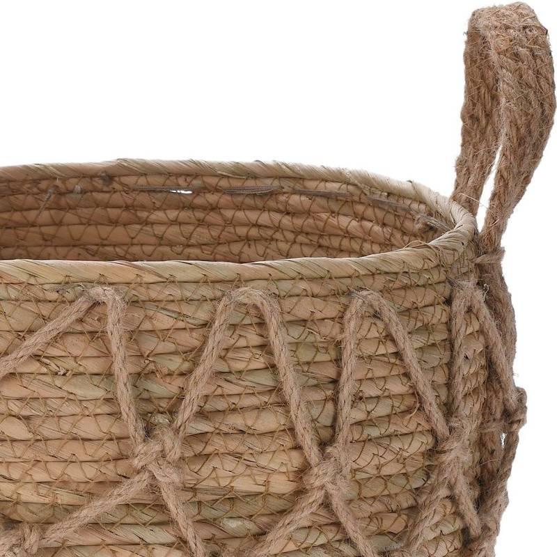 Osłonka, donica, doniczka, kosz boho, koszyk pleciony z trawy morskiej na doniczkę, rośliny, do przechowywania, 34x26 cm
