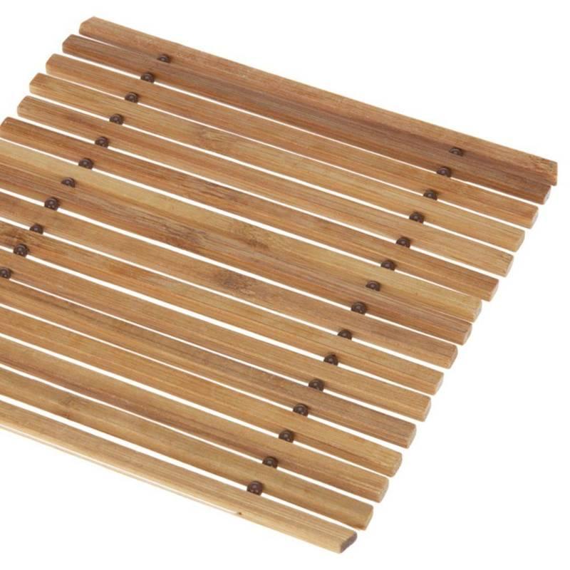 Podkładka bambusowa pod gorący garnek, podstawka drewniana na naczynia, 18x18 cm